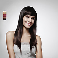 capless longs cheveux 100% humains perruque brune foncée cheveux raides 5 couleurs au choix