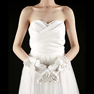 Wrist Length Fingertips Glove Satin/Lace Bridal Gloves
