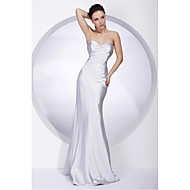 TS Couture Military Ball / Formal Evening Dress - Silver Plus Sizes / Petite Trumpet/Mermaid Strapless / Sweetheart Floor-length Stretch Satin