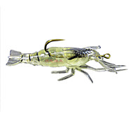 "4 pcs Soft Bait / Fishing Lures Soft Bait / Craws / Shrimp Green 5g g/1/6 oz. Ounce,40mm mm/1-5/8"" inch,SiliconSea Fishing / Freshwater"