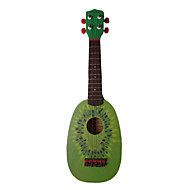 (Kiwi) Basswood Fruit-design Ukulele with Bag/String/Picks(Random Color of Pegs)