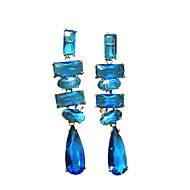 Dedicated 18K Gold Plated Cubic Zirconia Chandelier Earrings(More Colors)