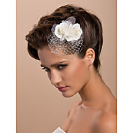 Gorgeous Tulle Wedding Bridal Three Flowers/ Headpiece