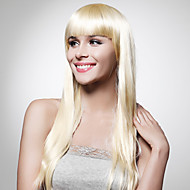 Capless Extra Long Top Grade Quality Synthetic Blonde Straight Hair Wig