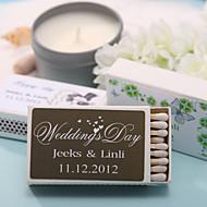 decoração do casamento caixas de fósforos personalizadas - corações impressões (conjunto de 12)