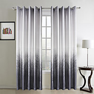 Two Panels Curtain Country , Floral / Botanical Living Room Polyester Material Curtains Drapes Home Decoration For Window