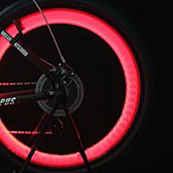 פנסי אופניים / אורות גלגל / אורות מהבהבים כובע שסתום / פנס קדמי לאופניים LED רכיבת אופניים תאורה אחורית סוללות תא Lumens סוללהרכיבה על