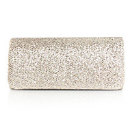 Women leatherette Event/Party Evening Bag Gold / Silver / Black