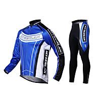 Mysenlan Jachetă Cycling cu Pantaloni Bărbați Mânecă Lungă Bicicletă Jerseu Dresuri Ciclism Set de ÎmbrăcăminteKeep Warm Rezistent la