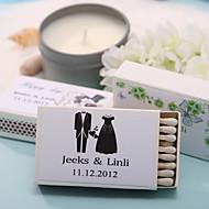 decoração do casamento caixas de fósforos personalizadas - felicidade (conjunto de 12)