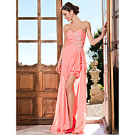 TS Couture® Prom / Formal Evening Dress - Watermelon Plus Sizes / Petite Sheath/Column Sweetheart / Strapless Asymmetrical Chiffon