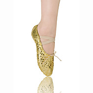 Non Customizable Women's/Kids' Dance Shoes Ballet Leatherette Flat Heel Gold