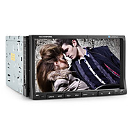 7-inch 2 Din TFT Screen In-Dash Car DVD Player With Bluetooth,iPod-Input,TV