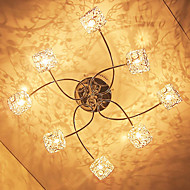 Max 20W Flush Mount ,  Modern/Contemporary Electroplated Feature for Crystal Metal Living Room