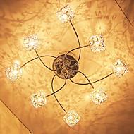 20W G4 8-light Iron Flush Mount Light with Crystal Aluminum Shades
