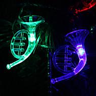 6m 32-led hudební nástroj ve tvaru barevné světlo řetězec víla lampa na vánoce (220v)