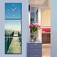 Modern Scenic Wall Clock in Canvas 3pcs K0060