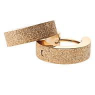 여성의 황금빛 모래 스테인레스 스틸 귀걸이