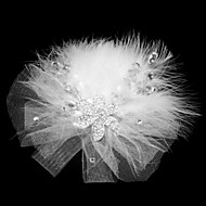 Lovely Net With Rhinestone / Feather Women's Fascinators
