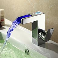 ripottele ® by lightinthebox - nykyaikainen johti vesiputous kylpyhuoneen pesuallas hana - kromattu
