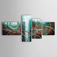 Hand-Painted Abstract Any Shape,Modern Traditional Four Panels Canvas Oil Painting For Home Decoration