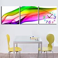 moderne stijl schilderachtige canvas wandklok 3pcs K226