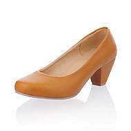 Scarpe Donna - Scarpe col tacco - Formale / Ufficio e lavoro - Tacchi - Quadrato - Finta pelle - Nero / Giallo / Rosso / Avorio