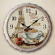 """13.5""""H Paris Scenery Metal Wall Clock"""