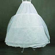 Skjørt Klassisk og Tradisjonell Lolita Lolita Cosplay Lolita-kjoler Hvid Ensfarget Lolita Lang Lengde Kjole Til Dame Organza