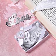 diseño de amor de metal favorito favor de la boda