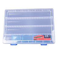 Transparente Lure Tackle Box Box (25 * 17,5 * 3,5 centímetros)