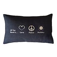 láska a mír bavlna / len dekorativní polštář