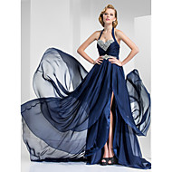 TS Couture® Formal Evening / Military Ball Dress - Vintage Inspired Plus Size / Petite A-line / Princess Halter / Sweetheart Court Train Satin Chiffon