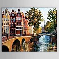 Hånd-malede Landskab Et Panel Canvas Hang-Painted Oliemaleri For Hjem Dekoration