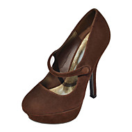 Fabulous Suede Stiletto Heel Pumps With Button Party / Evening Shoes