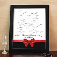 personlig signatur lerret ramme - rød bowknot (inneholder stativ)