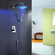 Sprinkle® Shower Faucets  ,  Contemporary  with  Chrome Single Handle Four Holes  ,  Feature  for LED / Waterfall
