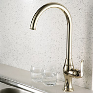 Deck Mounted Single Handle One Hole with Ti-PVD Kitchen faucet