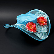Lovely Satin / Lace / Alloy With Flower Wedding/ Partying/ Honeymoon Hat