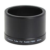 עדשת 52mm וTube מתאם מסנן לקודאק P880 מצלמה דיגיטלית שחור