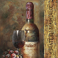 Stretched Canvas Art Still Life Wine Collection V by NBL Studio Ready to Hang