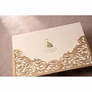 מדגם הזמנה מדהימה תחרת חתך בחתונה בזהב (סט אחד)