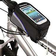 ROSWHEEL® Bike BagFahrradrahmentasche / Handy-Tasche Wasserdicht / Reflexstreifen Fahrradtasche Polyester / PVC Fahrradtascheiphone 4/7S