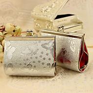 6 Stück / Set zugunsten Halter - kreative Metall Bevorzugungstaschen silver Schmetterlingsdruck Geldbeutel