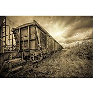 Stretched Canvas Art Landscape Lost Train by Sebastien Lory Ready to Hang