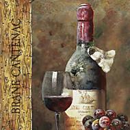 Canvastaulu art asetelma viinikokoelma IV NBL studio valmis ripustaa