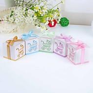 Boîtes à cadeaux Faveurs et cadeaux de fête Baby shower Thème classique/Thème de jardin Cubique Non personnalisé Papier durci