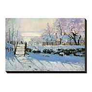 O Magpie, 1869 por Claude Monet Famosos em tela esticada
