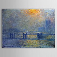 Famous Oil Painting Charing Cross Bridge, The Thames by Claude Monet
