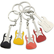 Personalisierte Gitarre Key Ring - 6er Set (weitere Farben)